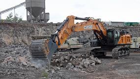 Foto de La CX750D de Case ofrece productividad y fiabilidad en las canteras de basalto de Alemania