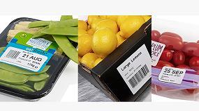 Foto de Domino particia en Fruit Attraction con sus equipos de codificación y etiquetado