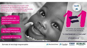Picture of Ecolec lanza la campaña solidaria de vacunación infantil '1 contenedor = 1 vacuna' por la recogida de RAEE