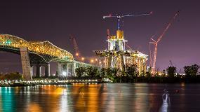 Foto de Linden Comansa en el puente New Champlain de Montreal