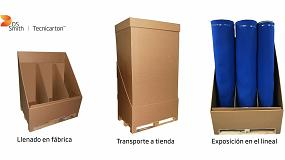 Foto de Un diseño de DS Smith Tecnicarton permite el transporte y exhibición de productos de gran volumen en un mismo embalaje
