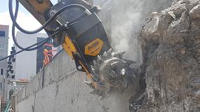 Foto de La fresadora MB-R800 trabaja en México en la preparación de los muros diafragma de un nuevo centro comercial