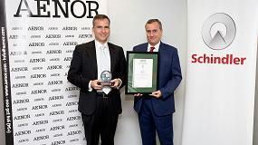 Foto de Schindler Iberia recibe el certificado Aenor por su mejora y compromiso en la gestión medioambiental