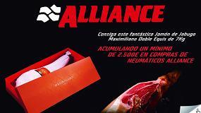 Picture of El distribuidor en Albacete regala jamones de Jabugo por la compra de neumáticos Alliance