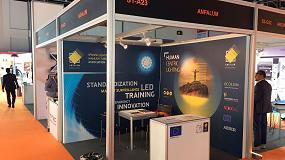 Foto de Anfalum acompaña a varias empresas españolas en la feria de Iluminación de Dubai (EAU)