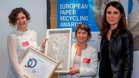Foto de Pajaritas Azules recibe el European Paper Recycling Award en el Parlamento Europeo