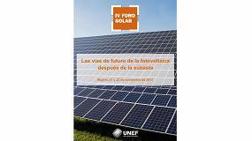 Foto de Expertos nacionales e internacionales abordarán el futuro la fotovoltaica en el IV Foro Solar de Unef