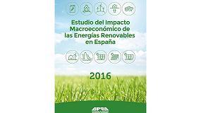 Foto de Las renovables aumentaron en 2016 su aportación al PIB y abarataron el sistema eléctrico