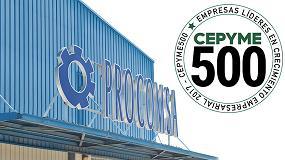 Foto de Procomsa, seleccionada como integrante del grupo Cepyme 500 de empresas que lideran el crecimiento empresarial