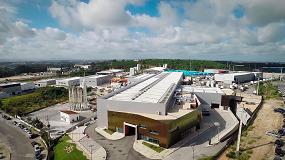 Foto de El panel sándwich Isoparete Plissé de Isopan, elegido para la ampliación de una nave industrial en Portugal