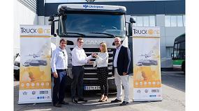 Foto de Truck One adquiere un camión Scania de GNL para reparto de material de construcción