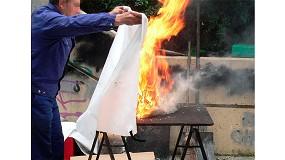 Foto de Mantas ignífugas, un elemento fácil de usar y muy eficaz en la extinción de pequeños fuegos