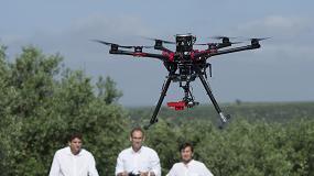 Foto de Prácticas en olivar de los futuros pilotos profesionales de dron