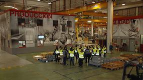 Foto de Administradores de fincas de Valladolid visitan el complejo industrial de Schindler en Zaragoza