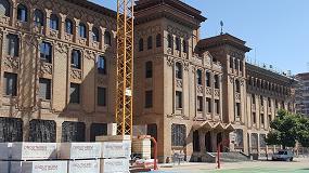 Foto de Rehabilitación del Colegio San Agustín de Zaragoza con el sistema SATE de Cubierta Onduline