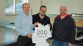 Foto de SwissQprint instala su impresora número 200 en Alemania