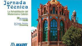 Foto de Mapei organiza la jornada 'La rehabilitación del modernismo catalán' en el COAM