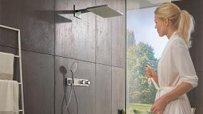 Foto de RainSelect de Hansgrohe: una unidad de control que ofrece una experiencia de ducha relajante