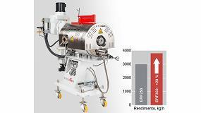 Fotografia de El nuevo ERF350 filtra hasta 3.800 kilos por hora de polímero fundido contaminado