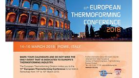 Fotografia de La XI Conferencia Europea de Termoconformado 2018 se celebra en marzo en Roma