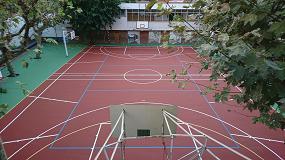 Foto de Renovación de pavimentos deportivos en la Escuela Inmaculada Concepción de Barcelona