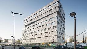 Foto de Mermet y su tejido Satiné 5500 controlan la luz en el edificio Be Open, en París
