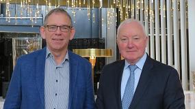 Foto de Entrevista a John W. Herbert, secretario general de Edra, y Ralf Rahmede, secretario general de Fediyma