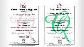 Foto de Transformaciones Plásticas Ital obtiene la certificación ISO 14001