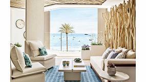Foto de Comenza y sus barandillas Glassfit en el hotel de Robert de Niro en Ibiza