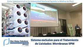 Foto de Dim Water imparte con éxito en Perú un curso sobre las membranas SPM para lixiviados