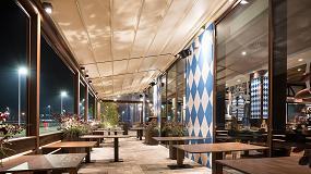 Foto de Soluciones KE para los restaurantes: la pérgola Gennius A2 Compact elegida por la Cervecería Löwengrube de Vicenza