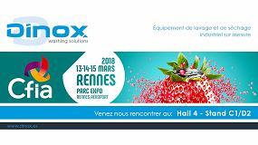 Foto de Dinox, presente en CFIA Rennes 2018