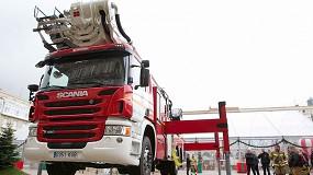 Foto de Los bomberos de A Coruña confían en Scania para montar un brazo hidráulico de 45 metros de altura