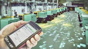 Foto de La transformación digital en la industria del plástico de mano de Arburg en Hannover Messe