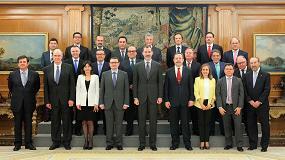 Foto de El Rey de España, Felipe VI, recibe en audiencia a la Junta Directiva de Cepco