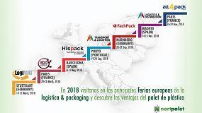 Foto de Nortpalet, en las ferias europeas más relevantes de packaging y logística de 2018