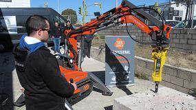 Foto de ToolQuick, primera empresa de alquiler en España en incorporar un robot de demolición Husqvarna