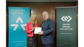 Foto de El Centro Español de Plásticos se suma a la Alianza para la FP Dual