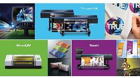 Foto de Roland DG muestra en Fespa 2018 su amplia gama de equipos de impresión y corte e impresión UV