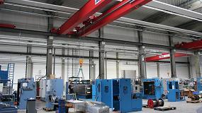 Foto de Puentes grúa Abus para Niehoff, un fabricante de maquinaria para cables y alambres
