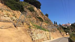Foto de Empleadas con éxito las barreras de protección contra caída de rocas de Maccaferri en la localidad de Blanes