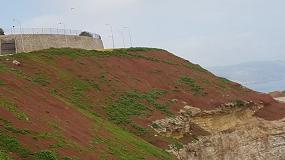 Foto de Productos Maccaferri para el control de erosión de un talud en Melilla