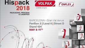 Foto de Dos máquinas envasadoras de bolsas de Volpak y Enflex en Hispack 2018