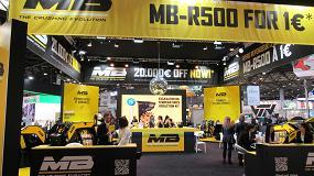 Foto de MB Crusher presenta en Intermat la nueva fresadora para miniexcavadoras