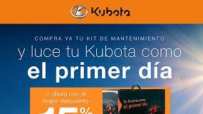 Foto de Kubota descuenta un 15% en el kit de mantenimiento para tractor o segadora