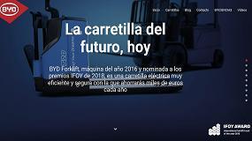 Picture of BYD Forklifts lanza su web en España