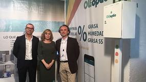 Foto de Foss y Padillo, premiados en la Feria del Olivo por su producto tecnológico Oleoptic
