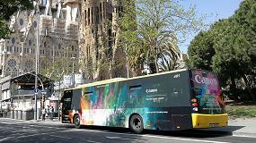 Foto de Canon innova en publicidad exterior con un autobús vinilado con las tintas UVgel ultrarresistentes