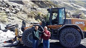 Foto de Pizarras del Carmen adquiere la cargadora Case 821G para la extracción y transporte del mineral