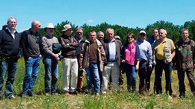 Foto de Miembros de Cose visitan plantaciones y campo de ensayo de pino piñonero injertado en Valladolid